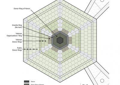 Paver Design Display of memorial bricks